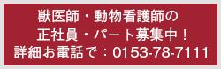 獣医師・動物看護師の正社員・パート募集中!
